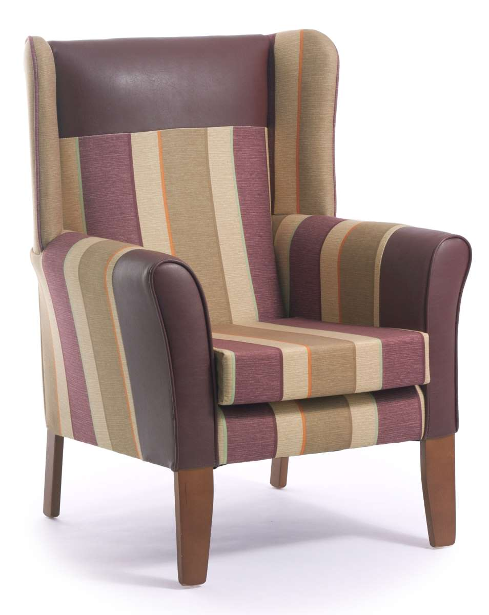 Sherwood high back armchair with wings